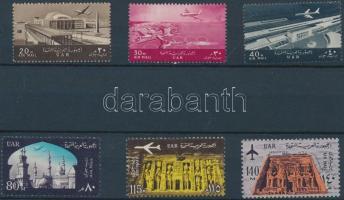 1963 Repülőtér + Építészeti emlékművek sor Mi 164-166 + 180-182