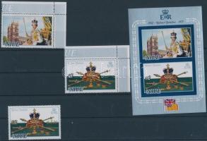 1977 II. Erzsébet uralkodásának 25. évfordulója (I-II) Mi 171-172 + 188 + blokk 1