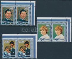 1982 Vilmos herceg megszületett sor ívsarki párokban Mi 462-467