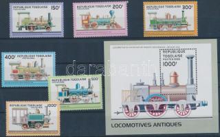 Locomotives set + block, Mozdonyok sor + blokk