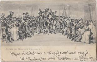 Vortrag der Marschelik, Spassmacher / Judaica, wedding, show of the Marschelik, joker, Judaika, esküvő, a Marschelik előadása