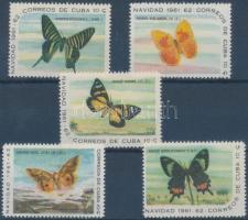 1961 Lepkék bélyegek 1 sorból Mi 741-745