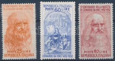 1952 Leonardo da Vinci (I-II) sor Mi 860 + 877-878