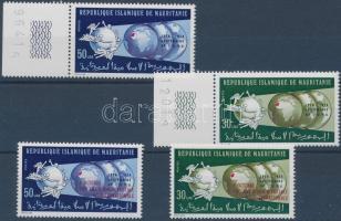 1974 100 éves az UPU ívszéli sor Mi 493-494 + felülnyomott sor Mi 499-500
