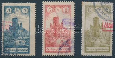 Zarki helyi kiadás 1918 Mi 4-6