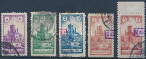 Zarki helyi kiadás 1918 Mi 4-5, 7-8