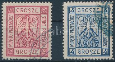 Przedbórz helyi kiadás 1917 Címer sor Mi 1-2 A