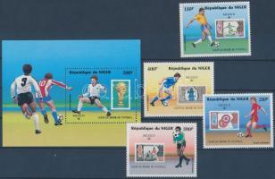 1986 Labdarúgó VB sor + bélyegek blokk formában Mi 991-994 + blokk Mi 49