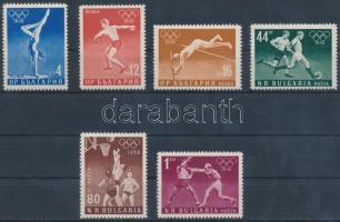 1956 Nyári olimpia sor Mi 996-1001