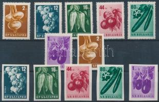 1958 Zöldségfélék fogazott és vágott sor Mi 1079-1084 AB