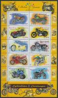 Motorcycles minisheet, Motorkerékpárok kisív