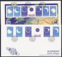 1999 Teljes napfogyatkozás sor Mi 131-136 + blokk 6 2 FDC