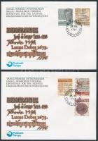 1981 Történelmi betűtípusok sor FDC-n Mi 65-69