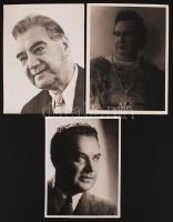 1942 Alexander de Sved operaénekes 3 db fotó / 3 photos 18x24 cm