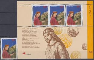 Europa CEPT mondák és legendák bélyeg + blokk, Europa CEPT myths and legends stamp + block