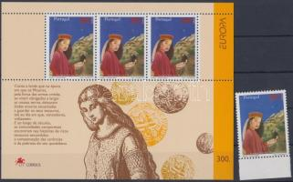 Europa CEPT myths and legends margin stamp + block, Europa CEPT mondák és legendák ívszéli bélyeg + blokk