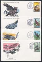 1978 WWF: Abuko Természetvédelmi terület; Madarak sor Mi 374-377 FDC