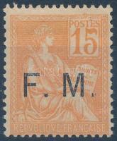 1901 Katonai postabélyeg felülnyomással Mi 1