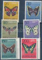 Butterflies set (with margin stamps), Lepkék sor (közte ívszéli bélyegek)