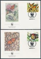 1988 WWF Lepkék sor Mi 2095-2098 4 FDC