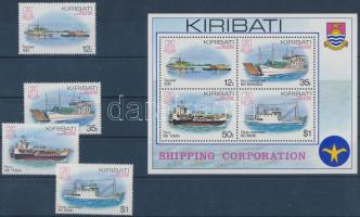 Ships set + block, Hajók sor + blokk
