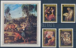 400th birth anniversary of Rubens set + block, 400 éve született Rubens sor + blokk