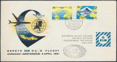 KLM first airmail Curacao-Amszterdam, KLM első repülés levél Curacao-Amszterdam