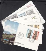 6 FDC + 3 postcards, 6 db FDC + 3 db képeslap