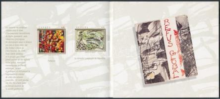 Paintings stamp-booklet, Festmények bélyegfüzet
