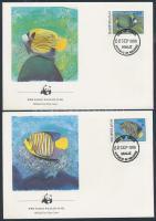WWF Fishes set 4 FDC, WWF Halak sor 4 FDC-n
