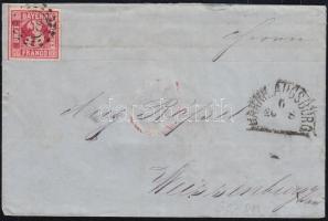 1868 Levél BAHNH AUGSBURG - WEISSENBURG