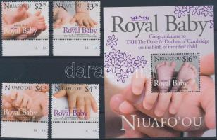 2013 Royal Baby - A kis trónörökös ívszéli sor + blokk
