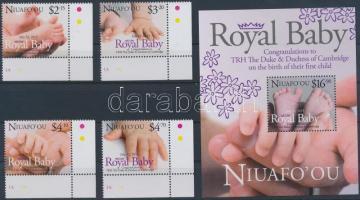 2013 Royal Baby - A kis trónörökös ívsarki sor + blokk