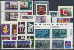 25 diff. stamps with 4 block of 4, 25 klf bélyeg, benne 4 négyestömb