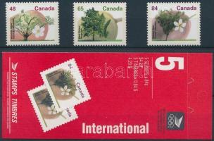 Fruit trees set + stamp-booklet, Gyümölcsfák sor + bélyegfüzet