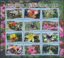 2013 Lepkék 12 bélyeget tartalmazó kisív