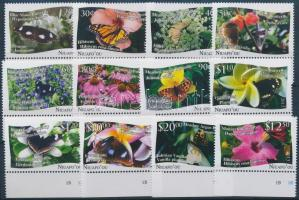 Butterflies margin set, 12 values, Lepkék ívszéli sor, 12 érték