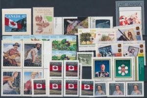 46 stamps, with relations, 46 db bélyeg, benne összefüggések