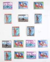 Sport motívum gyűjtemény maradvány rugós albumban / Remainders of a Sports collection, in album (** MI EUR 577.-)