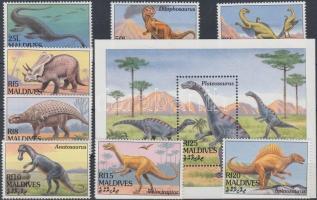 1994 Dinoszaurusz sor Mi 2149-2156 + blokk 309