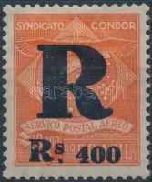 Magánkiadás 1928 Légiposta felülnyomott bélyeg Mi C8