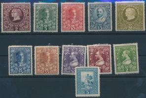 1910 I. Nikola király Mi 75-85