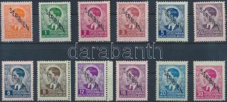 Szerbia 1941 Forgalmi értékek Mi 2-3, 5-6, 8-15