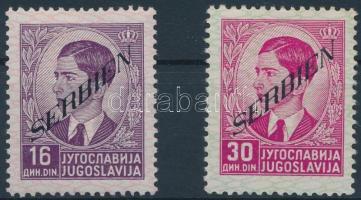 Szerbia 1941 Forgalmi értékek Mi 43, 45