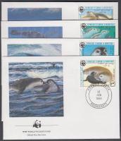 1986 WWF Fókák sor 4 FDC-n Mi 871-874