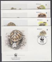 1991 WWF Görög teknősök sor 4 FDC-n Mi 2046-2049