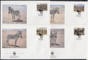 1991 WWF Zebra sor 4 FDC-n Mi 702-705