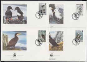 1989 WWF Tengeri madarak sor 4 FDC-n Mi 408-411