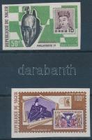1971 PHILATOKYO bélyegkiállítás vágott sor Mi 286-287