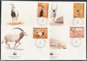 1985 WWF Antilopok sor 4 FDC-n Mi 941-944